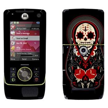 Виниловая наклейка «Матрешка-череп» на телефон Motorola Z8 Rizr