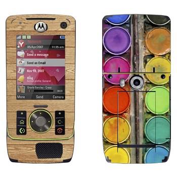 Виниловая наклейка «Палитра с красками» на телефон Motorola Z8 Rizr