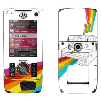 Виниловая наклейка «Полароид печатает радугу» на телефон Motorola Z8 Rizr
