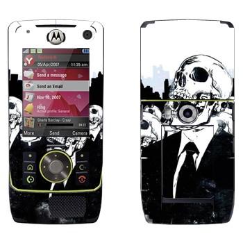Виниловая наклейка «Скелеты в костюмах» на телефон Motorola Z8 Rizr