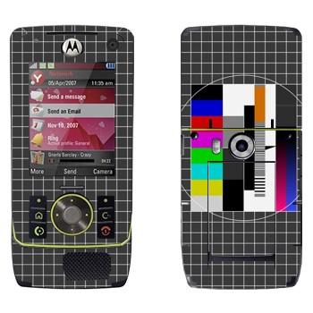 Виниловая наклейка «Телевизионная испытательная таблица» на телефон Motorola Z8 Rizr