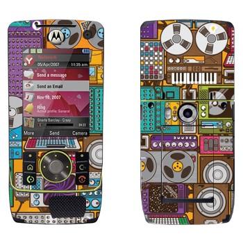 Виниловая наклейка «Усилители и бобинные магнитофоны» на телефон Motorola Z8 Rizr