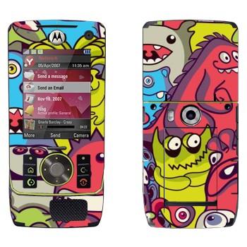 Виниловая наклейка «Забавные инопланетяне» на телефон Motorola Z8 Rizr