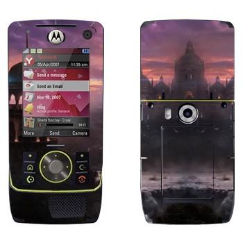 Виниловая наклейка «Закат в вымышленном городе» на телефон Motorola Z8 Rizr