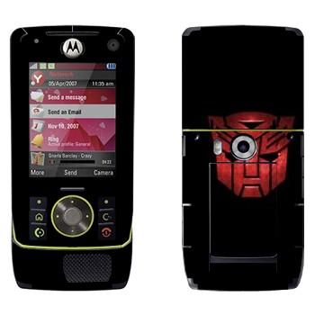 Виниловая наклейка «Автоботы эмблема красная» на телефон Motorola Z8 Rizr