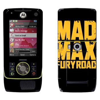 Виниловая наклейка «Безумный Макс: Дорога ярости лого» на телефон Motorola Z8 Rizr