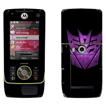 Виниловая наклейка «Десептиконы эмблема фиолетовая» на телефон Motorola Z8 Rizr