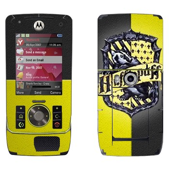 Виниловая наклейка «Герб Пуффендуя - Гарри Поттер» на телефон Motorola Z8 Rizr