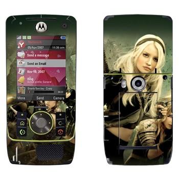 Виниловая наклейка «Главные героини - Запрещённый приём» на телефон Motorola Z8 Rizr
