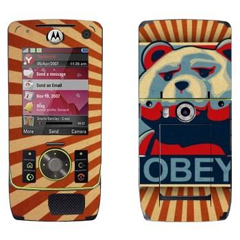 Виниловая наклейка «Медведь Тед - OBEY» на телефон Motorola Z8 Rizr