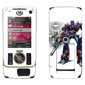 Виниловая наклейка «Оптимус Прайм - Трансформеры» на телефон Motorola Z8 Rizr