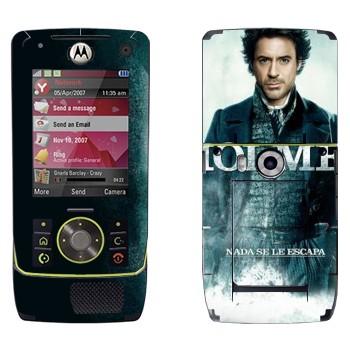 Виниловая наклейка «Роберт Дауни младший - Шерлок Холмс» на телефон Motorola Z8 Rizr