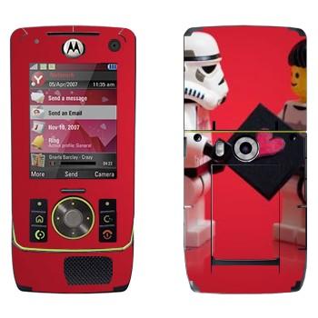 Виниловая наклейка «Звездные войны - любовь - Лего» на телефон Motorola Z8 Rizr