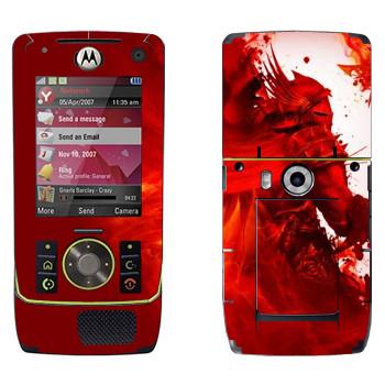 Виниловая наклейка «Dragon Age - Красный рыцарь» на телефон Motorola Z8 Rizr