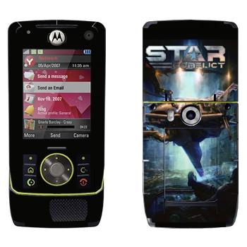 Виниловая наклейка «Star Conflict Игра» на телефон Motorola Z8 Rizr