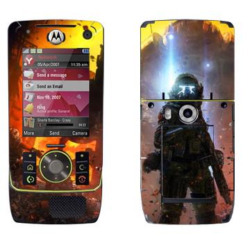 Виниловая наклейка «Titanfall экзокостюм» на телефон Motorola Z8 Rizr