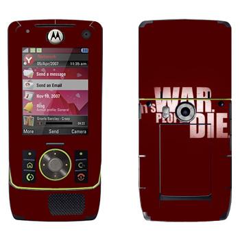 Виниловая наклейка «Wolfenstein - Это война. Люди погибают» на телефон Motorola Z8 Rizr