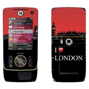 Виниловая наклейка «I love London» на телефон Motorola Z8 Rizr