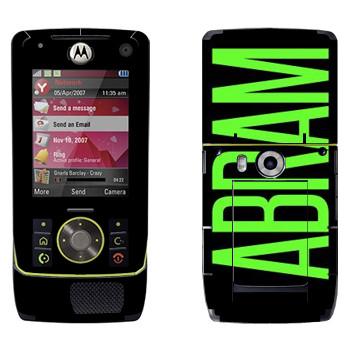 Виниловая наклейка «Abram» на телефон Motorola Z8 Rizr