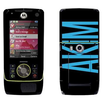 Виниловая наклейка «Akim» на телефон Motorola Z8 Rizr