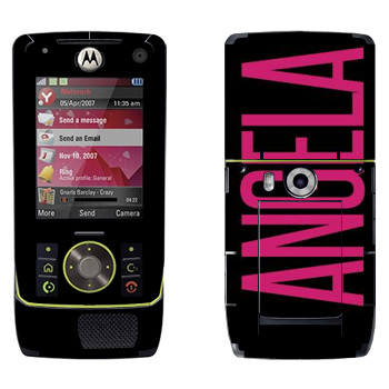 Виниловая наклейка «Angela» на телефон Motorola Z8 Rizr