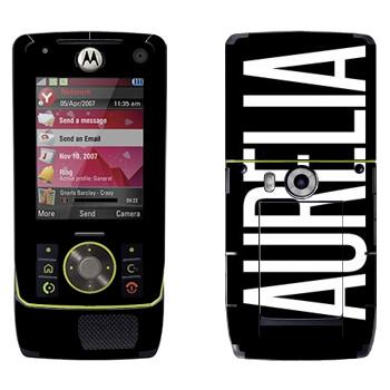 Виниловая наклейка «Aurelia» на телефон Motorola Z8 Rizr