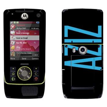 Виниловая наклейка «Aziz» на телефон Motorola Z8 Rizr