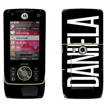 Виниловая наклейка «Daniela» на телефон Motorola Z8 Rizr