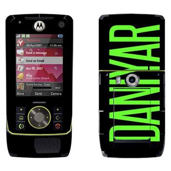 Виниловая наклейка «Daniyar» на телефон Motorola Z8 Rizr