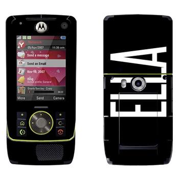 Виниловая наклейка «Ella» на телефон Motorola Z8 Rizr