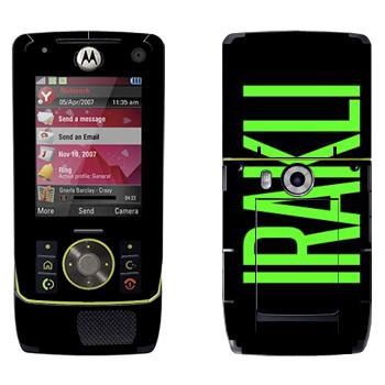 Виниловая наклейка «Irakli» на телефон Motorola Z8 Rizr