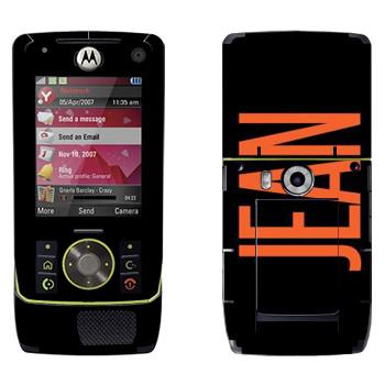 Виниловая наклейка «Jean» на телефон Motorola Z8 Rizr