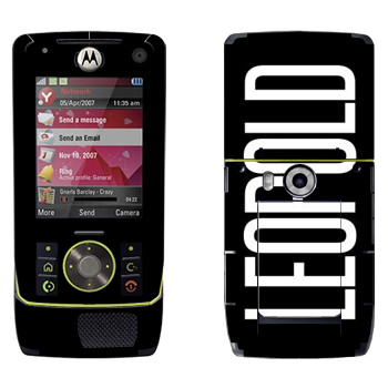 Виниловая наклейка «Leopold» на телефон Motorola Z8 Rizr