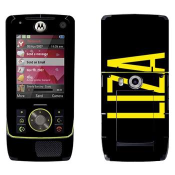 Виниловая наклейка «Liza» на телефон Motorola Z8 Rizr