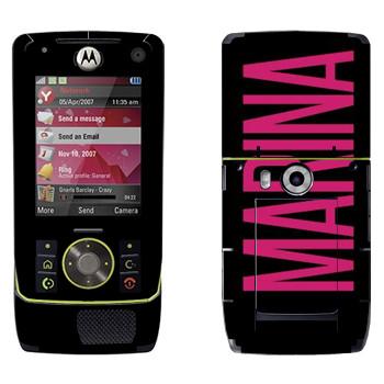 Виниловая наклейка «Marina» на телефон Motorola Z8 Rizr