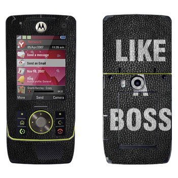 Виниловая наклейка «Надпись Like A Boss» на телефон Motorola Z8 Rizr