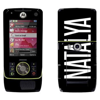 Виниловая наклейка «Natalya» на телефон Motorola Z8 Rizr