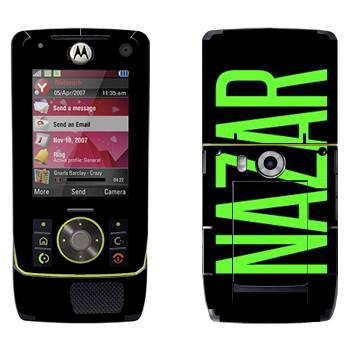 Виниловая наклейка «Nazar» на телефон Motorola Z8 Rizr