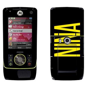 Виниловая наклейка «Nina» на телефон Motorola Z8 Rizr