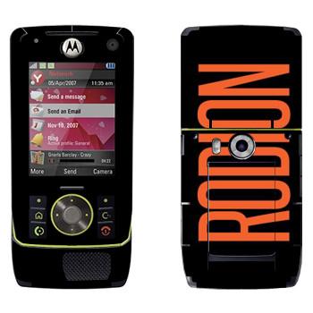 Виниловая наклейка «Rodion» на телефон Motorola Z8 Rizr