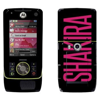 Виниловая наклейка «Shakira» на телефон Motorola Z8 Rizr