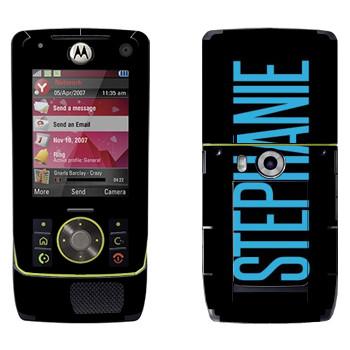 Виниловая наклейка «Stephanie» на телефон Motorola Z8 Rizr
