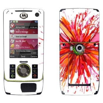 Виниловая наклейка «Астра нарисованная акварелью» на телефон Motorola Z8 Rizr