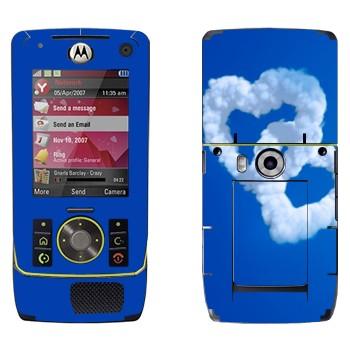 Виниловая наклейка «Два сердца из облаков» на телефон Motorola Z8 Rizr