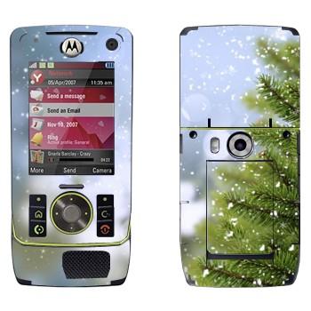 Виниловая наклейка «Ёлка и снег» на телефон Motorola Z8 Rizr