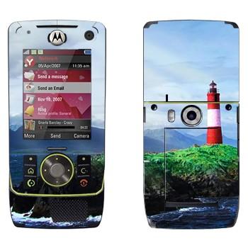 Виниловая наклейка «Маяк на скале» на телефон Motorola Z8 Rizr