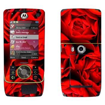Виниловая наклейка «Много роз» на телефон Motorola Z8 Rizr