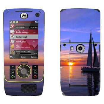Виниловая наклейка «Парусник на закате» на телефон Motorola Z8 Rizr