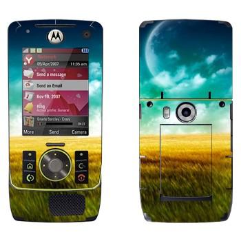 Виниловая наклейка «Поле, небо и Луна» на телефон Motorola Z8 Rizr