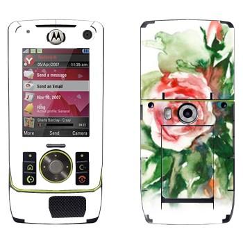 Виниловая наклейка «Роза акварелевой краской» на телефон Motorola Z8 Rizr